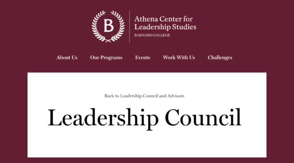 Leadership Council – Barnard College