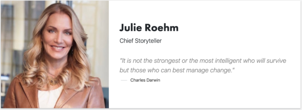 Julie Roehm - Storyteller - experience - Party City - Signitt