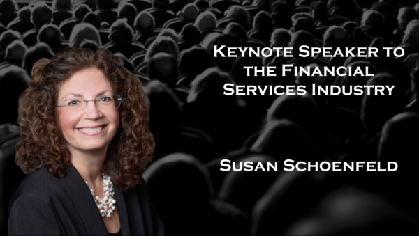 Keynote Speaker to the Financial Services Industry