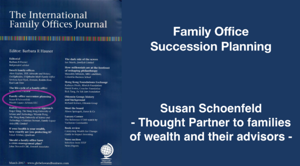 Family Office Succession Planning