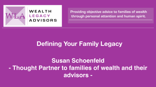 Defining your Family Legacy