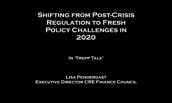 Shifting from Post-Crisis Regulation to Fresh Policy Challenges in 2020