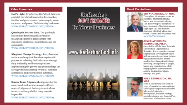Align leadership and corporate cultures with Biblical principles