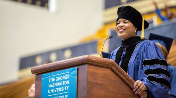 Roslyn Brock Gives Inspirational Commencement Address