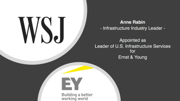 Appointed Leader of U.S. Infrastructure Services for Ernst & Young