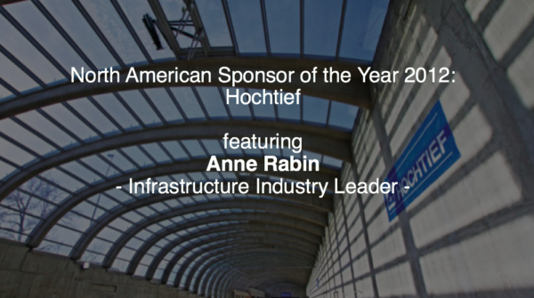 North American Sponsor of the Year 2012 : Hochtief