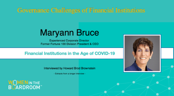 Discussing Financial Institutions in the Age of COVID-19