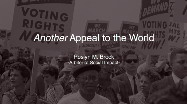 Another Appeal to the World
