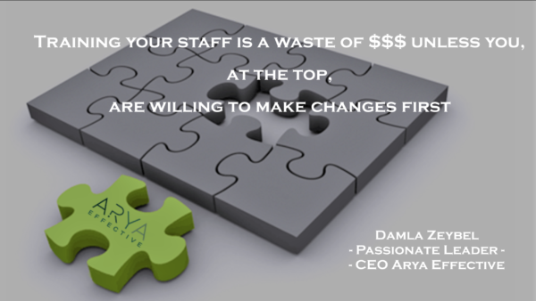Training Your Staff is a Waste of $$ Unless You, at the Top, Are Willing to Make a Change First