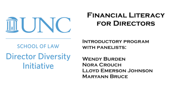 Financial Literacy for Directors