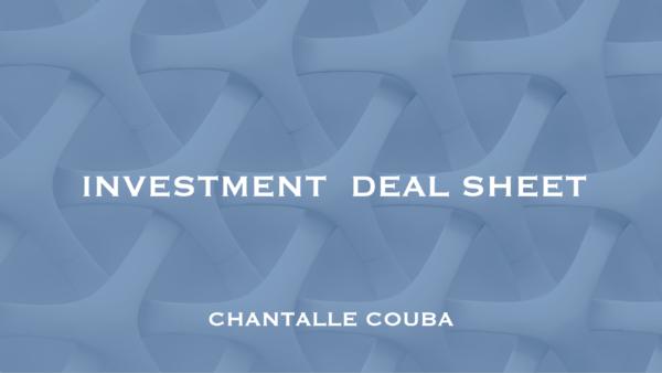Investment Deal Sheet