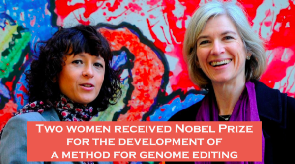 Two Women Received Nobel Prize for the Development of a Method for Genome Editing