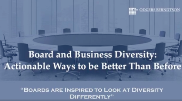Boards are Inspired to Look at Diversity Differently
