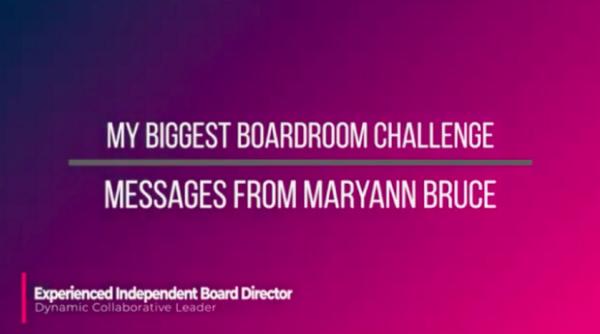 My Biggest Boardroom Challenge