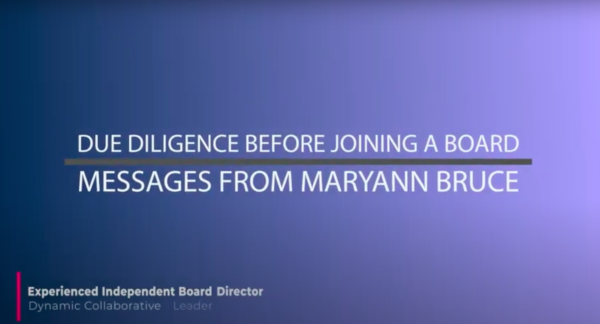 Due Diligence Before Joining a Board