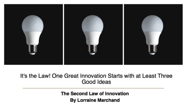 The Second Law of Innovation: It's the Law! One Great Innovation Starts with at Least Three Good Ideas