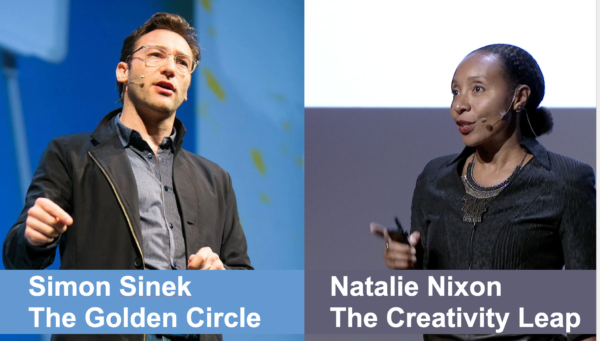 Simon Sinek's 'Golden Circle' vs Natalie Nixon's 'Creativity Leap'