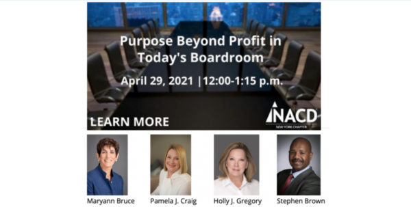 Purpose Beyond Profit in Today's Boardroom