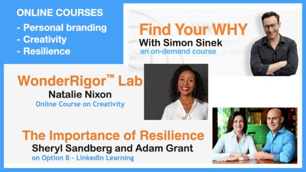 Expert lead courses from Simon Sinek – Natalie Nixon – Sheryl Sandberg & Adam Grant