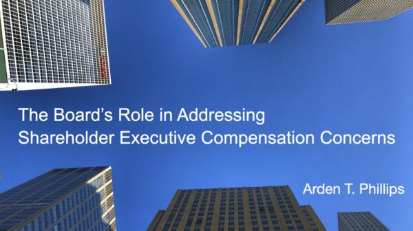 Shareholder Executive Compensation Concerns