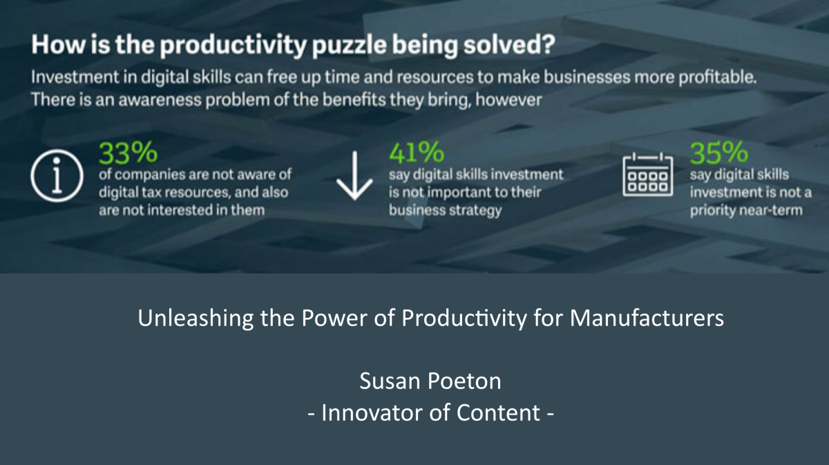 Unleashing the power of productivity for manufacturers