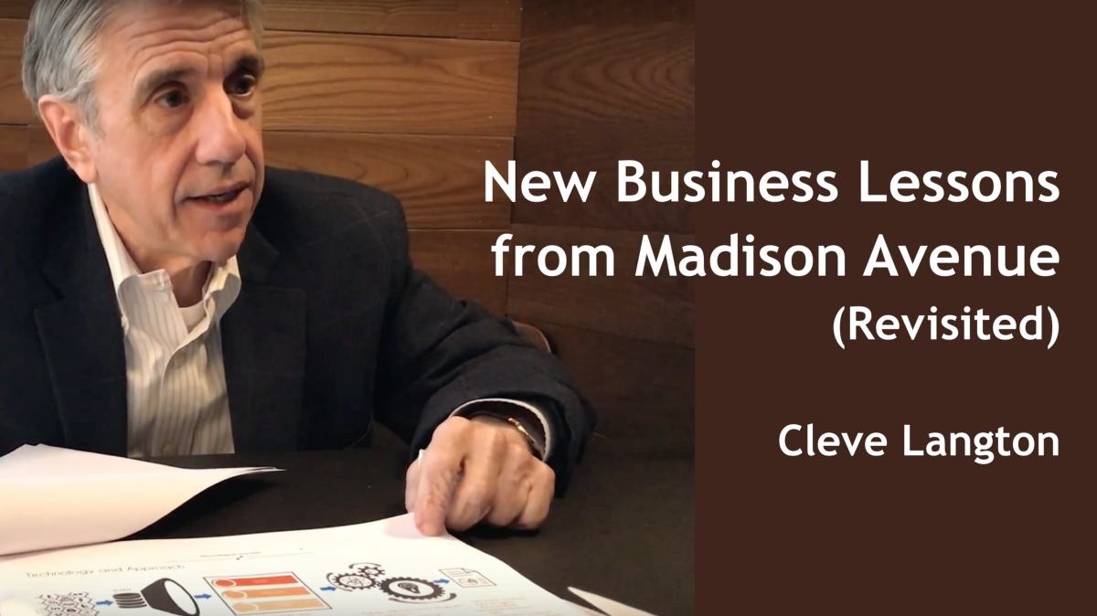 New Business Lessons from Madison Avenue (Revisited)
