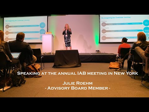 Speaking about Customer Experience at the IAB meeting