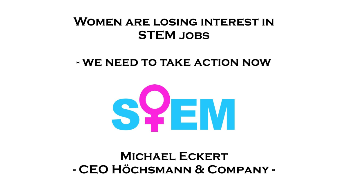 Women are losing interest in STEM jobs – we need to take action now