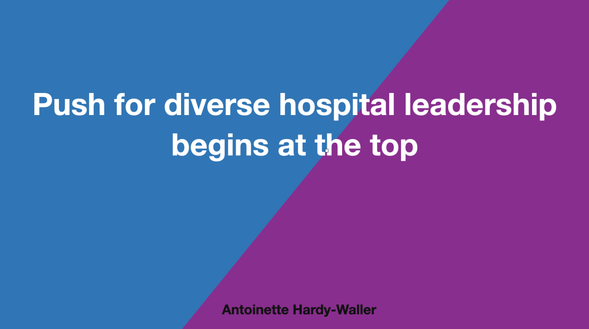 Push for diverse hospital leadership starts at the top
