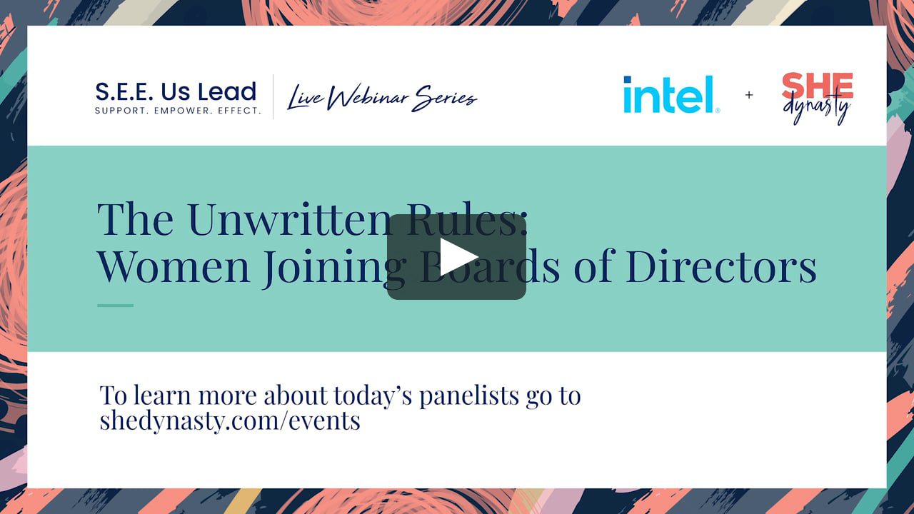 Unwritten Rules: Women Joining Boards of Directors